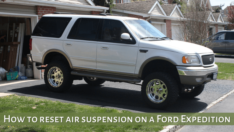 How to reset air suspension on a Ford Expedition